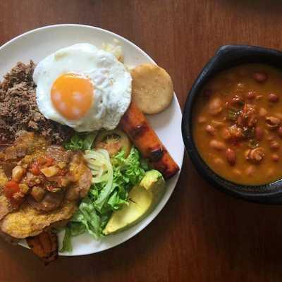 Bandeja Paisa Colombian Food