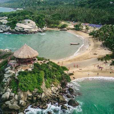 Wild Beaches in Tayrona Colombia